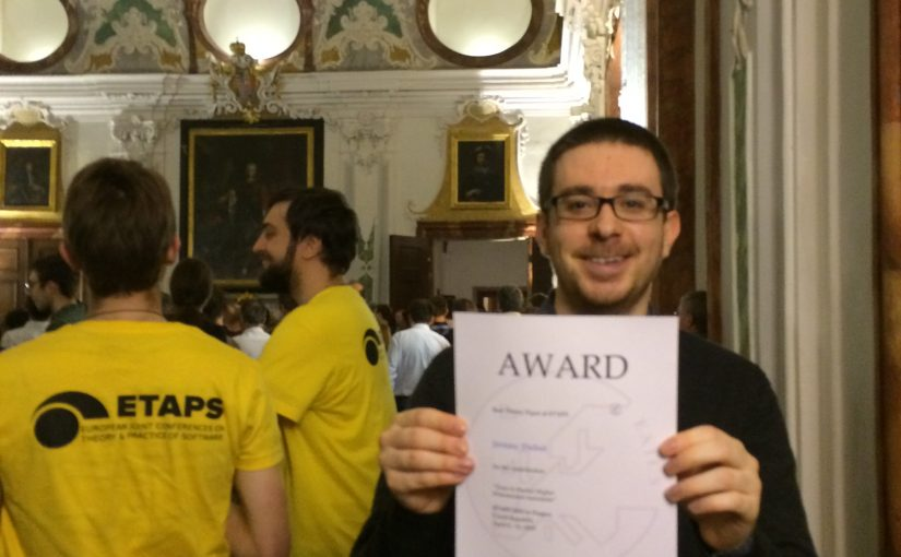 Jérémy Dubut awarded Best Theory Paper Award at ETAPS 2019