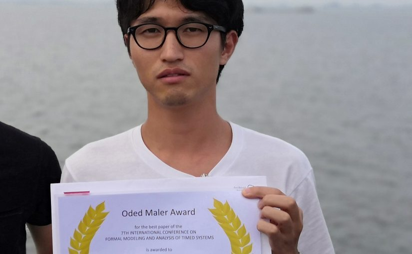Masaki Waga awarded Oded Maler Award for the best paper at FORMATS 2019